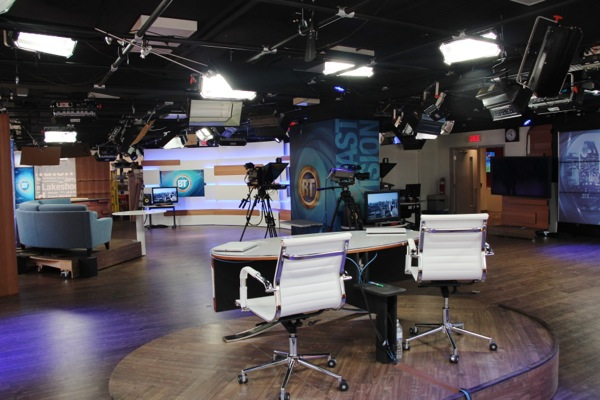 The Breakfast Television studio is 2800 square feet
