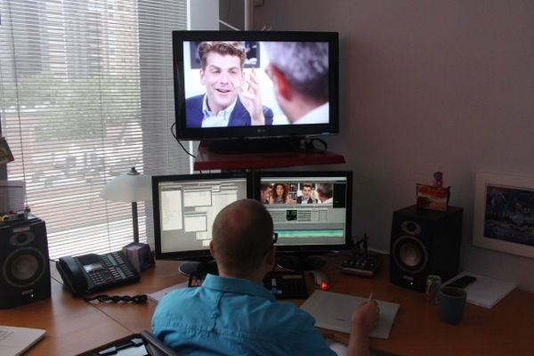 An editing suite at Whalley-Abbey Media
