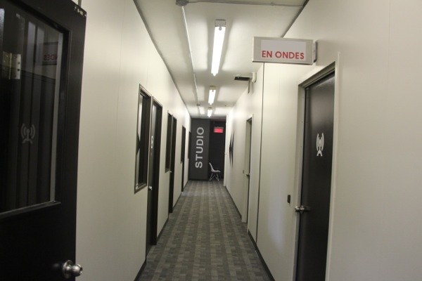 La Presse has built television studios on the first floor of its building.