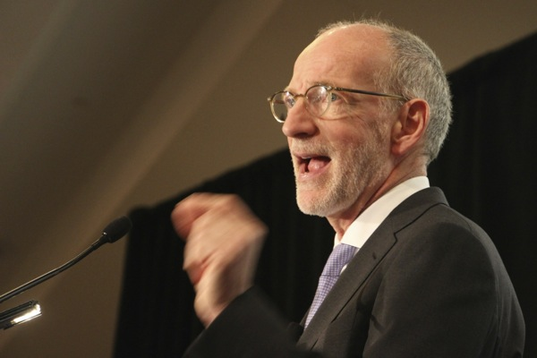 "CBC CEO Hubert Lacroix launches a ""national conversation"" at a speech at the Canadian Club in Montreal on Monday."