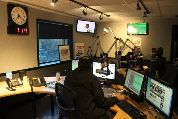 TSN Radio 690's new studio on René-Lévesque Blvd. You may start seeing it on TV soon as TSN looks for more daytime programming for its additional channels.