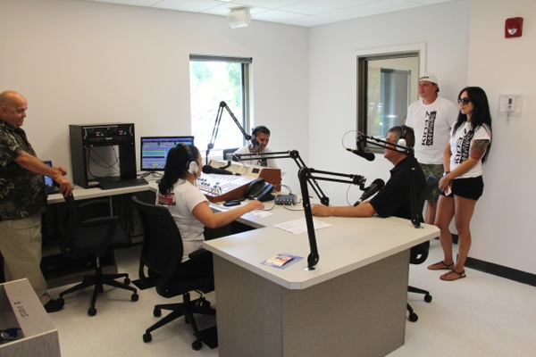 The new main studio at K103 Kahnawake.