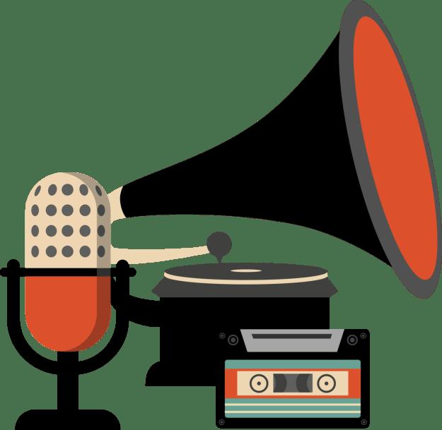 AUDIO - retro mic phonograph