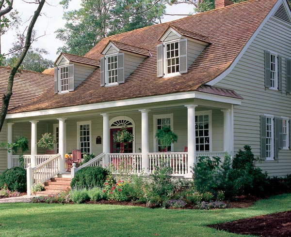 Warm sunny cape cod home plan family home plans blog for Cape cod homes with front porches