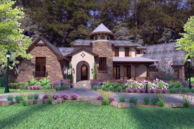 Luxury tuscan style house plan family home plans blog for Tuscan roof house plans