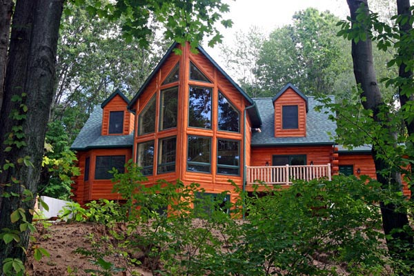 Energy efficient log house plan family home plans blog for Energy efficient cabin