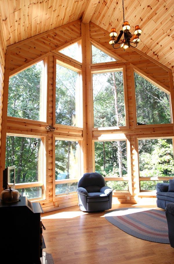 Energy efficient log house plan family home plans blog for Window frame plan