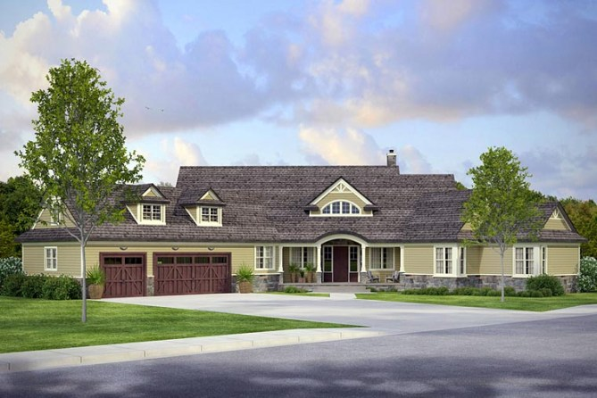 Luxury Craftsman Home Plan with 4211 Square Feet