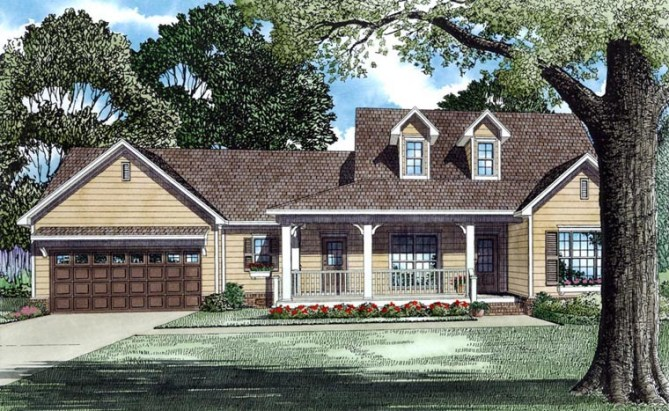 3 Bedroom Country Style House Plans