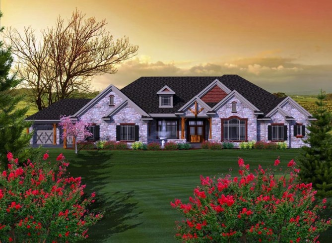 House Plans with 3 Bedrooms and 3.5 Bathrooms
