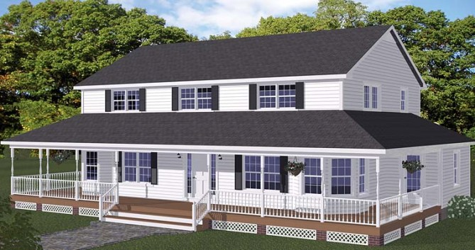 New Country Style House Plans