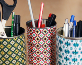 Colorful Paper Desk Containers Photo Credit: World of Pineapple