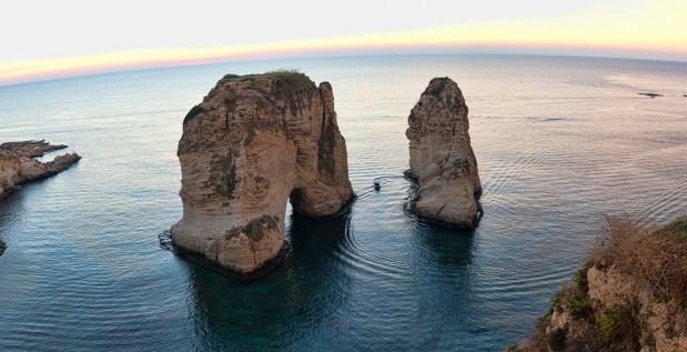 Panorama of Rawshe rocks in Beirut, Lebanon. ,  Ahmad Moussaoui