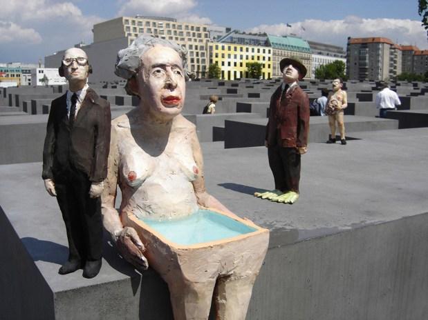 Arendt, Eichmann, Heidegger; © Skulptur und Foto Volker März