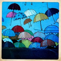 Great Umbrella Mural at the Storage Box
