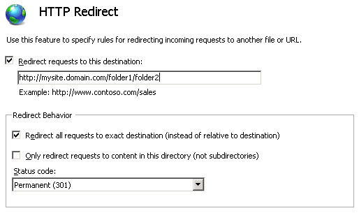 IIS 7 HTTP Redirect