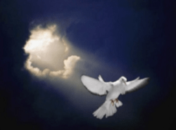 Holy Spirit Descending in Clouds
