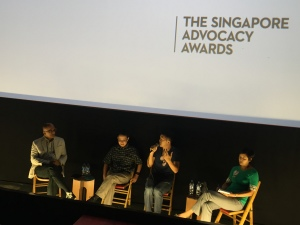 With Alex Au, Ken Kwek and Teo You Yenn at the Advocacy Awards event. – Picture by Sim Chi Yin.