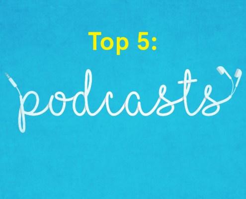 top 5 podcasts headphone illustration