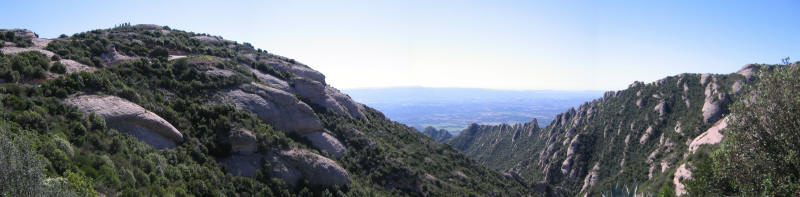 View from the top of the mountain at Montserrat