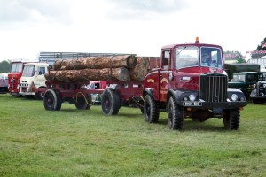 Unipower timber truck and trailer