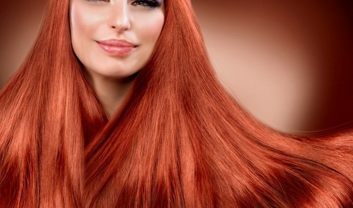 red hair extensions