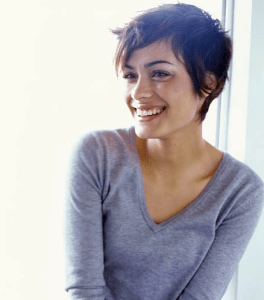 Pixie hairstyle cut womens