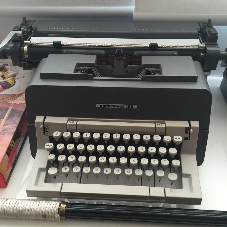 Underwood, uma máquina que ainda escreve cartas