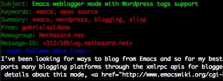 wordpress tags with weblogger.el mode
