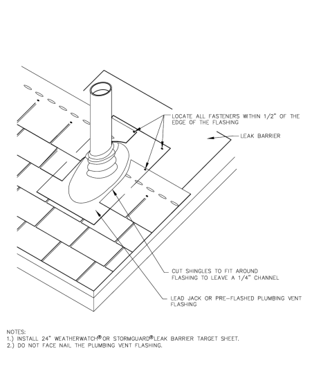 How To Flash A Pipe On A Steep Slope Roof Gaf Blog