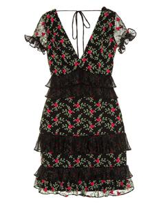 Vestido Mini Tule Florzinhas Iorane