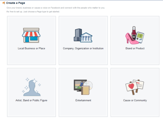 Create facebook page for non profit associations