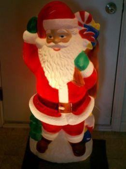 blow mold santa