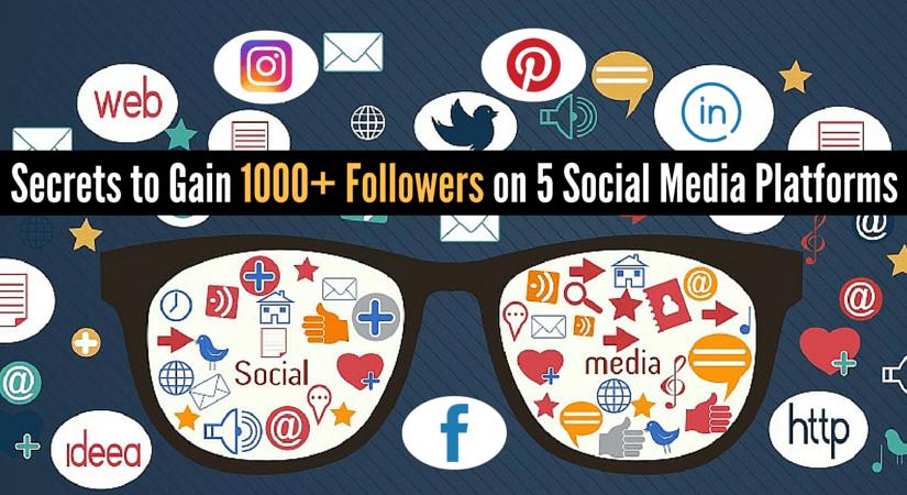 Secrets to Gain 1000+ Followers on 5 Social Media Platforms