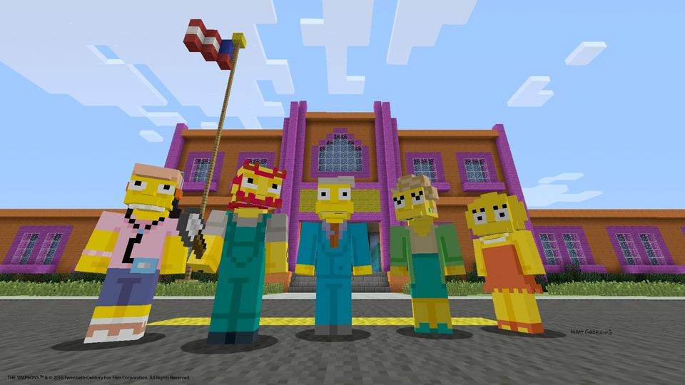 Simpsons in Minecraft