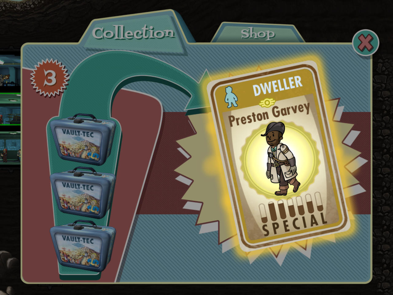 Update – Fallout Shelter receives it's First Fallout 4 Character