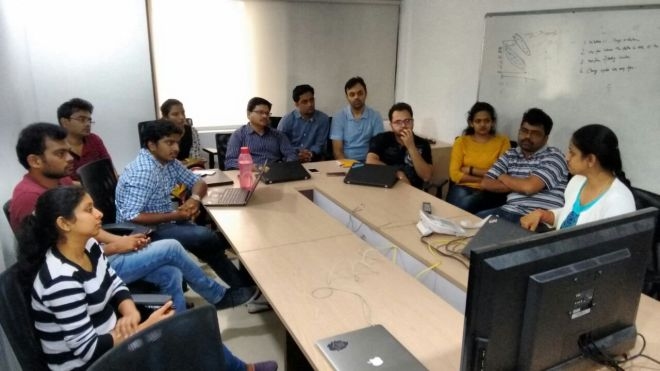 Gramener Hyderabad team PMO session at Boot Camp Nov 2016