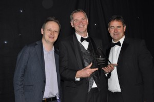 Adrian Girling, GRAPHISOFT UK, with the 2013 BIM Product of the Year Award