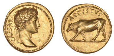 augustus denarius, caesar coin, augustus caesar coin, world coins, roman coins, famous roman coins