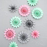 DIY jolies rosaces en papier