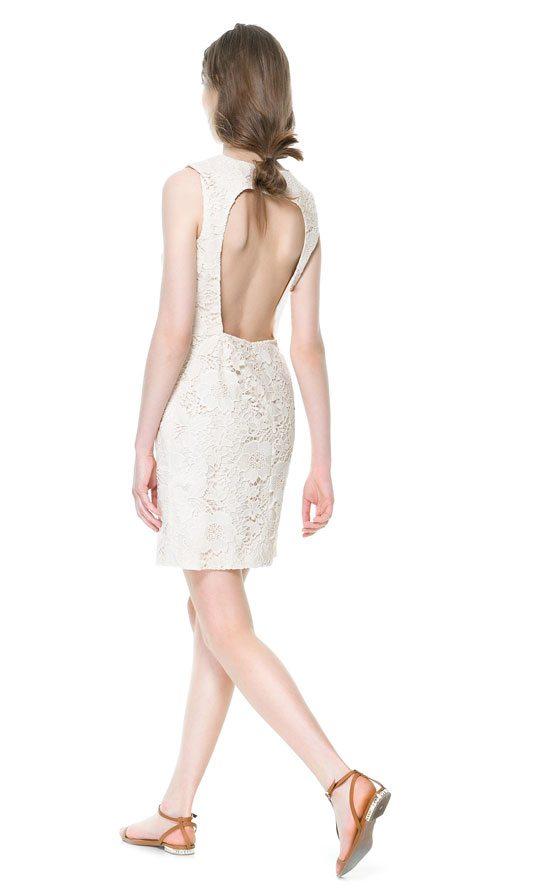white dresses robe blanche zara dentelle. Black Bedroom Furniture Sets. Home Design Ideas