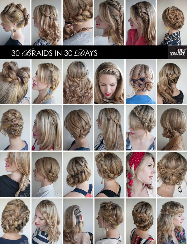 Hairstyles For Long Hair Beginners : Inspiration coiffures: 30 coiffures / 30 tresses / 30 jours - Happy ...