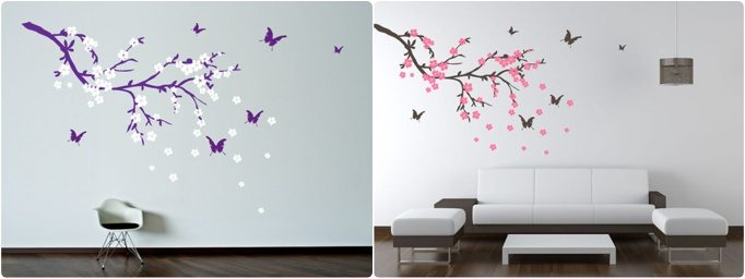 D coration diy un sticker mur effet 3d happy chantilly - Stickers branche d arbre ...