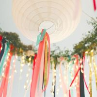 DIY facile lanterne + ruban - Easy DIY lantern + ribbon