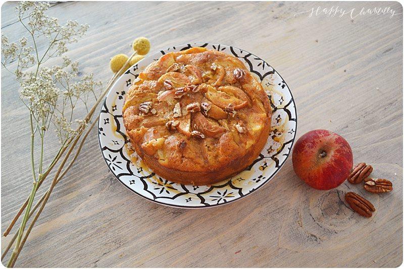 Recette g teau aux pommes et noix de p can healthy happy chantilly - Gateau aux noix et pommes ...