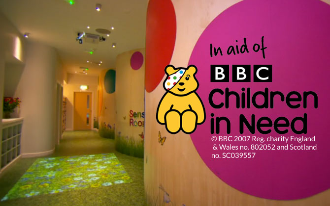 Grass flooring for Children in Need
