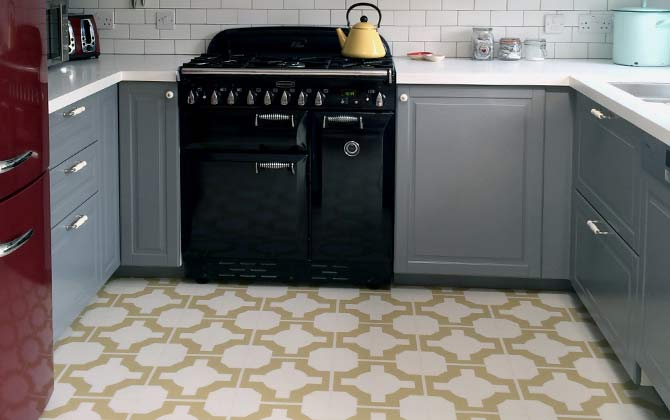 vinyl ktichen floor