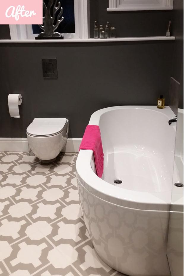 bath and luxurious vinyl flooring