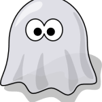 cute, adorable cartoon scary vampire ghost ghoul with big eyes