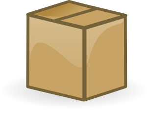 A closed box package cartoon clip art